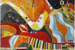 """""""Jazz concert"""", акрил на платно, 70х100см"""