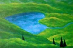"""""""Извор във Водната планина"""" 60/73, масл. бои, платно"""