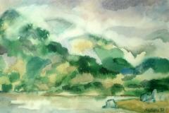 """""""Из Водната планина"""" , 24/37, акварел, акв. хартия"""