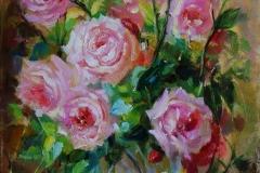 """""""Рози с ваза"""", 30/40 см."""