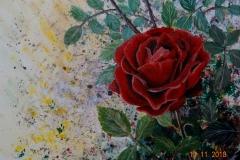 """""""Любов"""", акрилни бои върху платно, 30/24 см."""