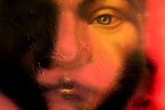 """""""Портрет на лицемерието"""", маслени бои върху платно, 40/40 см."""
