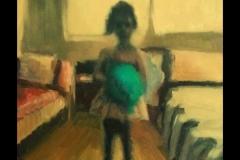 """""""Дете с балон"""", маслени бои върху платно, 70/50 см."""