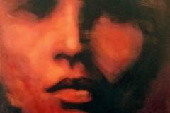 """""""Портрет на съвестта"""", маслени бои върху платно, 40/40 см."""