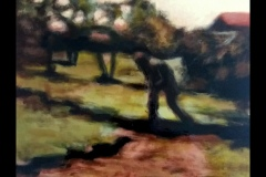 """""""Селски пейзаж"""", маслени бои върху платно, 40/40 см."""
