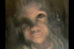 """""""В лицето на съвестта"""", маслени бои върху платно, 40/40 см."""