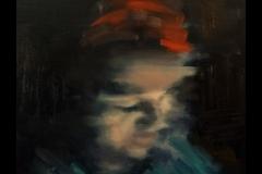 """""""Тъмната прелест на номофобията"""", маслени бои върху платно, 40/40 см."""
