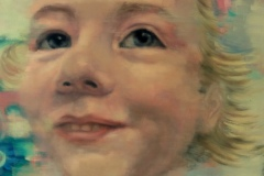 """""""Чиста, истинска усмивка"""", маслени бои върху платно, 100/100 см."""