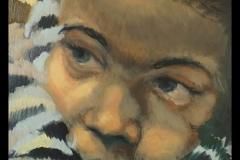 """""""Портрет на търпението"""", маслени бои върху платно, 40/40 см."""