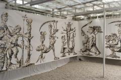 """""""Обезглавявания"""", маркер и акрил върху платно, 210/1000 см., 2019 г."""
