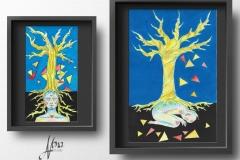 """""""Дърво на живота"""" –смесена техника"""