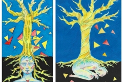 """""""Дърво на живота"""" – смесена техника"""