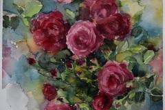"""Рози"", акварел, 61/41 см."