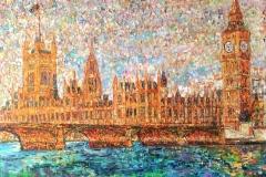 """""""Уестминстърски дворец"""", маслени бои върху платно, 100/80 см."""