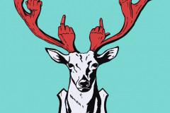 """""""Mr. Deer's Last Words"""", принт върху хартия, 100/75 см., 2014 г."""