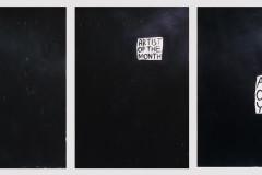 """""""Untitled"""", триптих, акрил върху хартия, 50/70 см. всяка, 2017 г."""