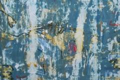 """""""Сини сънища"""", масло и маслен стик върху хартия, 70/70 см."""