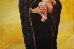 """""""Мадона"""", акрил върху платно, 195/80 см., 2019 г."""