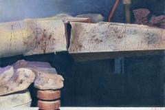 """""""Remains of Future. I"""", пастел върху хартия, 50/65 см., 1996 г."""